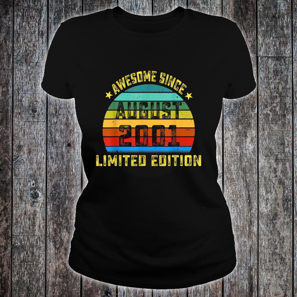 Awesome Since August 2001 Birthday For 18 Yrs Old DM5 Shirt ladies tee