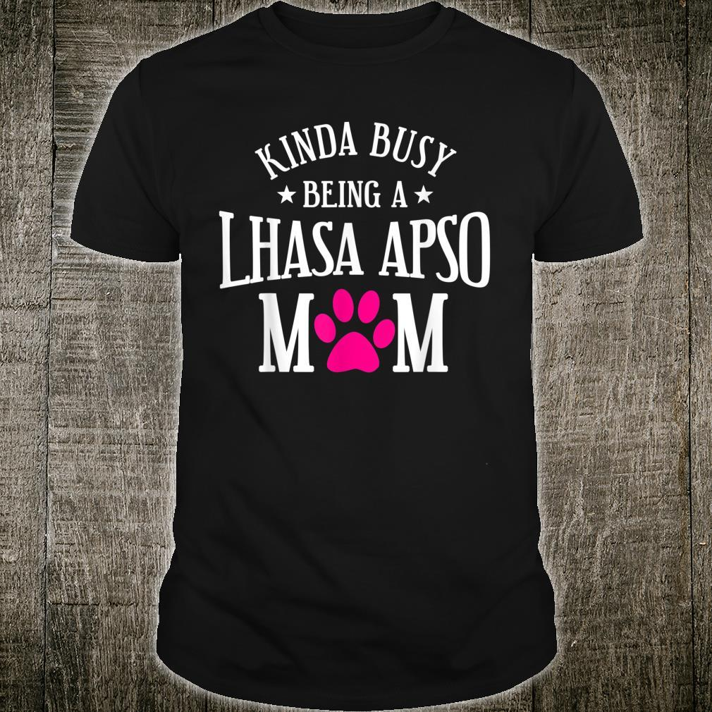 Lhasa Apso Dog Furmom Puppy Owner Mother's Day Shirt