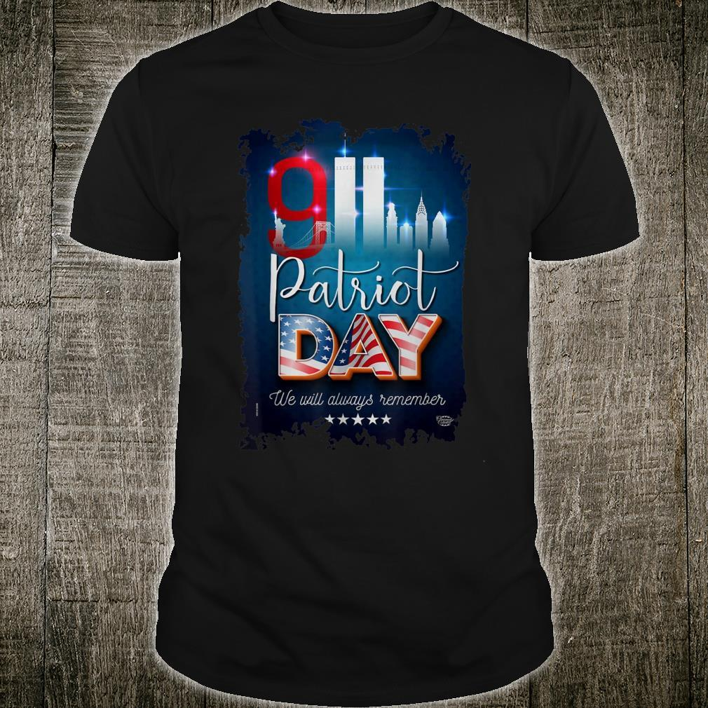 We Will Always Remember Patriot Day 20th Shirt